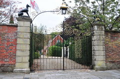 Gate and Driveway Royalty Free Stock Photography