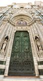 Gate of Duomo Firenza in panoramic view Stock Photography