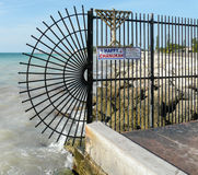 Gate at the End of Key West Royalty Free Stock Image