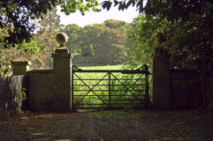 Gate in the English Countryside. Gateway  near Acton-Burnell  in the English home counties Royalty Free Stock Photography