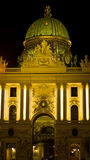 Gate and entrance in front of Hofburg palace at night, Vienna Royalty Free Stock Photo