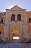 Gate with entrance to Arcady monastery, island of Crete Royalty Free Stock Image