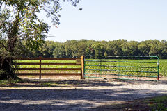 Gate Entrance to Farmland Stock Image