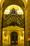 Gate and entrance to Hofburg palace at night, Vienna Royalty Free Stock Photography