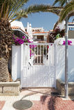 Gate entrance to residential house on Tenerife Royalty Free Stock Image