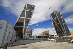 The Gate of Europe (Puerta de Europa). MADRID, SPAIN Stock Images