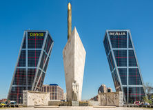 The Gate of Europe towers (Puerta de Europa) in Madrid Stock Photo