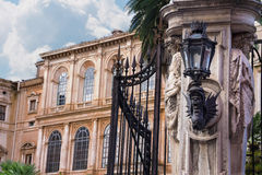 Gate of the famous and luxurious Palazzo Barberini in Rome, Ital Stock Images