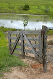 Gate on farm Stock Images