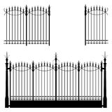 Gate and Fence. Wrought iron gate and modular fences Stock Images
