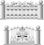 Gate a fence a lattice the house. A vector stock illustration