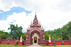 Gate and fence in temple. Landscape of gate and fence in country temple of thailand Stock Photography