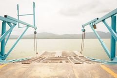 Gate of ferryboat. Royalty Free Stock Photo