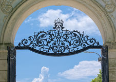 Gate of Festetics Palace in Keszthely town, Hungary Stock Image