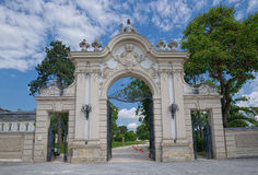 Gate of Festetics Palace in Keszthely town, Hungary Royalty Free Stock Images