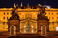 Prague castle gate architecture Royalty Free Stock Photography