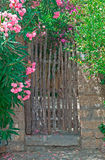 Gate and flowers Royalty Free Stock Photo