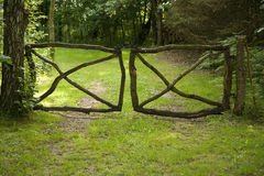 Gate in the Forest Royalty Free Stock Image