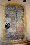 Gate in fortified medieval church Biertan, Transylvania. Stock Image