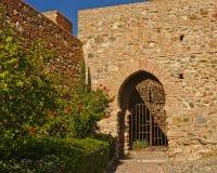 Gate in Alcazaba moorish castle in Malaga. Gate in a fortified wall Alcazaba moorish castle in Malaga Royalty Free Stock Photo