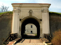 Gate at the fortress. Gate at the Petrovaradin fortress in Novi Sad, Serbia Royalty Free Stock Photos