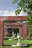 Gate frame with sculpture Stock Image