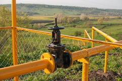 The gate and gas pipeline. Royalty Free Stock Photography