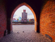 Gate in Gdansk, Poland Stock Images