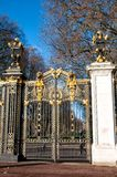 Gate with gilded ornaments in Buckingham Palace, London, UK Stock Photos