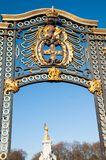 Gate with gilded ornaments in Buckingham Palace, London, UK Royalty Free Stock Image