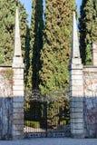 Gate of giusti garden in Verona city in spring Royalty Free Stock Images