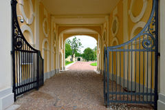Gate of Grand Menshikov palace in  Oranienbaum, Lomonosov, Stock Photo