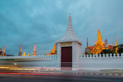 Gate of the Grand Palace and Wat Phra Kaew Temple, Bangkok Thailand. Sawatdisopa Gate of the Grand Palace and Wat Phra Kaew Temple in Bangkok,Thailand in night Royalty Free Stock Image
