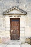 Gate of the guardhouse of the prison Stock Images