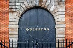Gate at the Guinness storehouse brewery in Dublin Stock Image