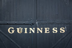 Gate at the Guinness storehouse brewery in Dublin Royalty Free Stock Photography