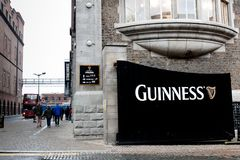 Gate at Guinness Storehouse, the brewery experience telling the tale of Ireland`s famous beer on St James`s Gate. April 12th, 2018, Dublin, Ireland - gate at Royalty Free Stock Image