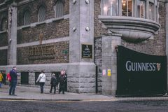 Gate at Guinness Storehouse, the brewery experience telling the tale of Ireland`s famous beer on St James`s Gate. April 12th, 2018, Dublin, Ireland - gate at Royalty Free Stock Photos