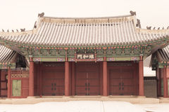 Gate of Gyeongbokgung Palace  in Seoul, South Korea Stock Photography