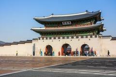 Gate of Gyeongbokgung Palace in Seoul, South Korea Royalty Free Stock Photos