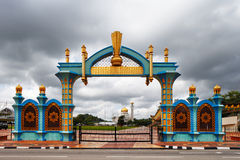 The gate of Haji Sir Muda Omar Ali Saifuddien Park of Brunei Royalty Free Stock Photography