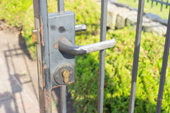Gate handle Royalty Free Stock Photography