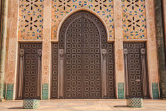Gate of Hassan II Mosque Stock Photos