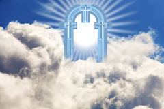 Gate of Heaven. Abstract image that illustrates a gate Stock Images
