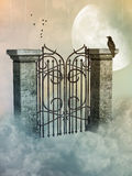 Gate in the heaven royalty free illustration