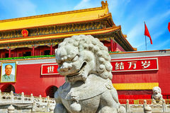 Gate of Heavenly Peace-  entrance to the Palace Museum in Beijin Stock Photography