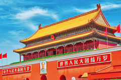 Gate of Heavenly Peace-  entrance to the Palace Museum in Beijin Stock Image