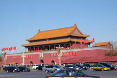 The Gate of Heavenly Peace at famous Tiananmen square in Beijing Stock Photo