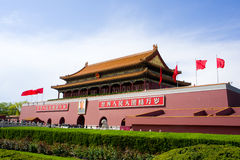 Gate of Heavenly Peace (Tiananmen). Gate of Heavenly Peace (Tiananmen or Tian'anmen) is a famous monument in Beijing,China.It's widely used as a national symbol Stock Images