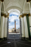 The gate at the Hermitage and Palace square in St. Petersburg.Ru Royalty Free Stock Images